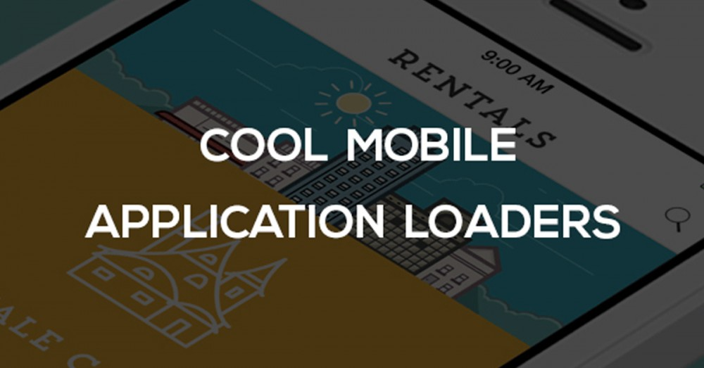 Cool mobile application loaders
