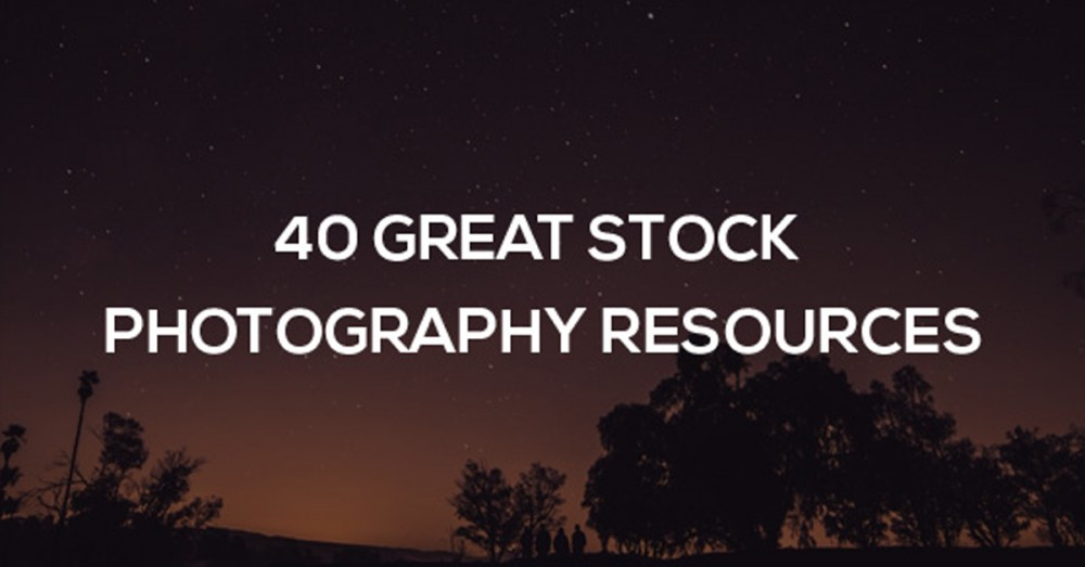 40 great stock photography resources