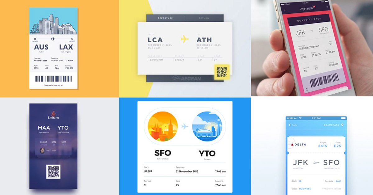 Boarding Pass Design Inspiration