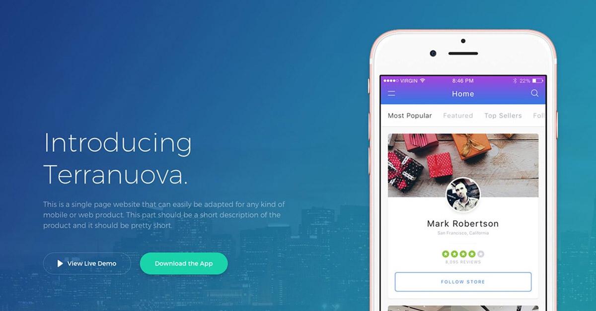App Landing Page UI Inspiration