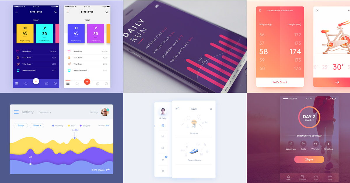 Fitness/Health App — Design Inspiration