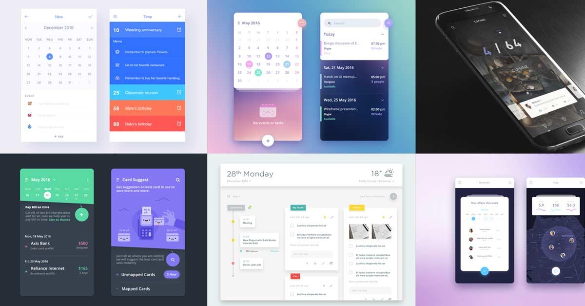 Event Calendar Design Inspiration : Calendar design inspiration muzli